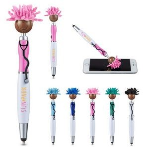MopToppers� Screen Cleaner w/Stethoscope Stylus Pen - Multi-Cultural Version (Brown Skin Color)